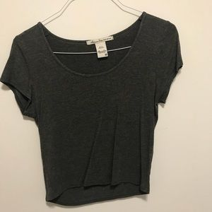 Size M American Rag Cropped Top Color is Dark Gray
